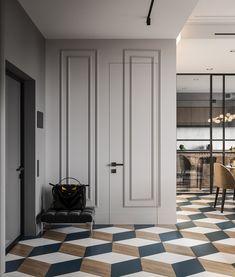 Home design modern classic Ideas for 2019 Modern Classic Interior, Modern Interior Design, Home Interior, Living Room Interior, Interior Livingroom, Room Door Design, House Design, Modern Hallway, Design Case