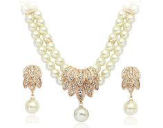 Italina Rigant 2013 New Arrival Imitation Pearl Jewelry Sets With Austrain Crystal and 18K Glod Plated For Bride  € 13,20