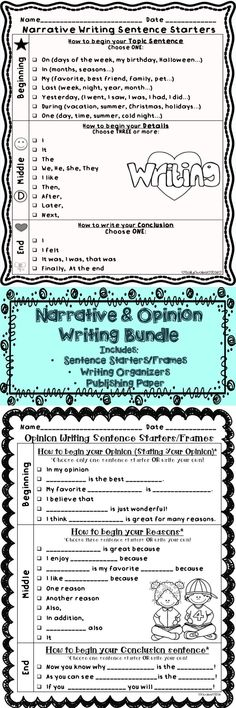 personal narrative graphic organizer | For the Classroom | Pinterest ...