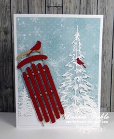 cards made with memory box sled die - Google Search