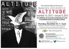 Altitude, an Exhibition by the graduating class of Stouffville District Secondary School