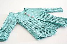 Detské oblečenie - Pletený svetrík pre bábätko - tyrkysový - 8003591_