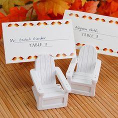 Adirondack Chair Place Card Holders by Beau-coup