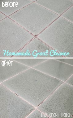The Craft Patch: Pinterest Tested: Grout Cleaner