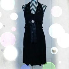 "Betsey & Adam dress Halter style- ruffles all over, a diamond ""snowflake"" black in color, side zipper- perfect condition and super cute! Betsy & Adam Dresses"