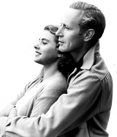 Ingrid Bergman and Leslie Howard in a publicity photo for Intermezzo, 1939.