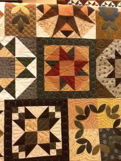 Fun block of the month quilt. Machine quilted by Sheri Zalar 309-698-0398.
