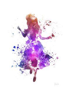 Alice in Wonderland ART PRINT illustration Disney by SubjectArt