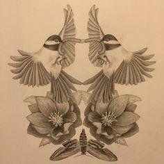 Symmetri  #calmsmysoul  #illustration #drawing #bristolpaper #graphite #mettenoerhede