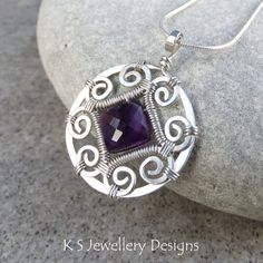 amethyst wire wrap