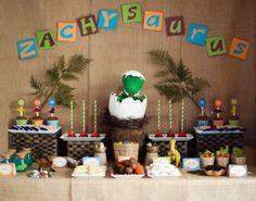 "Photo 1 of 10: Dinosaur Party / Birthday ""Zachysaurus"" | Catch My Party"