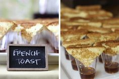 french toast dippers - love this whole baby shower
