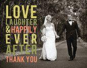 Je nach Hochzeit Danke Kartengestaltung