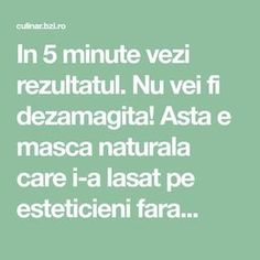 In 5 minute vezi rezultatul. Nu vei fi dezamagita! Asta e masca naturala care i-a lasat pe esteticieni fara... Zumba, Beauty Hacks, Beauty Tips, Metabolism, Yoga, Medicine, Baking Soda, Therapy, Varicose Veins