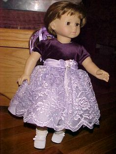 PURPLE VELVET PARTY DRESS - velvet lace satin toddler dress upcycled.  Tried to do it identical.  came pretty close I would say.