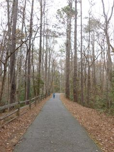 Hiking the trails before our Fantasy in Lights tour in Pine Mountain