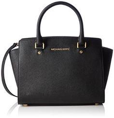 Michael Kors Women's Selma Saffiano Leather Medium Satchel Top-handle Bag