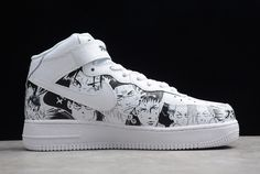 New Nike Air Force 1 MID '07 Hanamichi Sakuragi White Black-4