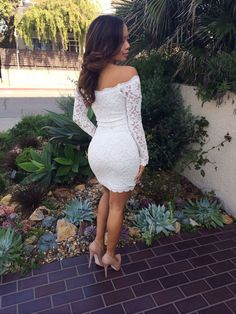 Off Shoulder Lace Bodycon Dress - White | fashionnova.com | Enter code for 15% off: XOMALL