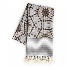 """This wonderful Turkish style blanket designed by Anna Backlund is 100% cotton jacquard. Display it freely, show it off, or as the name implies, go under the covers and enjoy!  Dimension: 39"""" x 78"""