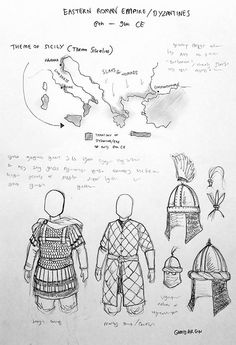 Armadura Medieval, Medieval Armor, Medieval Fantasy, Military Art, Military History, Byzantine Army, Medieval Drawings, Character Art, Character Design