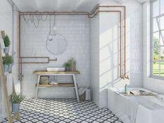 VIVES Azulejos y Gres - Wandfliesen rotscherbige wandfliesen keramik tradition Etnia White Bathroom Tiles, White Tiles, Wall Tiles, Master Bathroom, Subway Tiles, Unit Bathroom, Bathroom Ideas, Bad Inspiration, Bathroom Inspiration