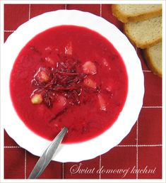 Polish Recipes, Polish Food, Gazpacho, Thai Red Curry, Recipies, Cooking Recipes, Dinner, Fruit, Ethnic Recipes