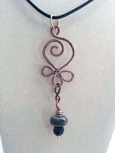Celtic Song Copper Necklace with Handmade by KellyPaddockDesign