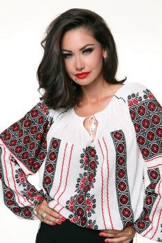 Folk Fashion, Ethnic Fashion, Womens Fashion, Polish Embroidery, Folk Costume, Embroidered Blouse, Traditional Dresses, Cool Outfits, Amazing Outfits