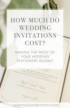 How much of wedding invitations cost? The answer: your stationery budget can be as little or as much as you want! Read how to make the most of your inviation budget.