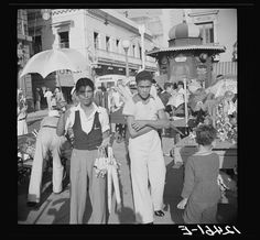 Toy sellers in the municipal plaza. San Juan, Puerto Rico, 1937. Edwin Rosskam, photographer.