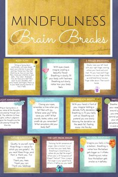 Mindfulness techniques - Mindfulness Brain Breaks Coping Skills for Focus, Calm & Classroom Management What Is Mindfulness, Mindfulness For Kids, Mindfulness Activities, Mindfulness Therapy, Mindfulness Practice, Mindfulness Training, Mindfulness Psychology, Teaching Mindfulness, Mindfulness Coach
