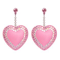 Shop for timeless statement earrings designed by fashion jewelry designer TARINA TARANTINO. All costume jewelry is hand crafted in the USA. Pink Jewelry, Heart Jewelry, Jewlery, Chain Jewelry, Swarovski Crystal Earrings, Crystal Jewelry, Pink Earrings, Drop Earrings, Barbie