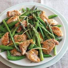 Chicken Sauté with Sugar Snaps and Asparagus More