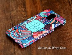 Abstract Geometric Monogram Samsung Galaxy S5/S4/S3/Note 3/Note 2 3D-Wrap Case