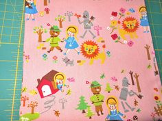 FQ ~WIZARD OF OZ ~Japanese~Canvas~Tinman~OOP~Cosmo Tex~Cotton~Fabric~Quilt~Craft #COSMOTEX