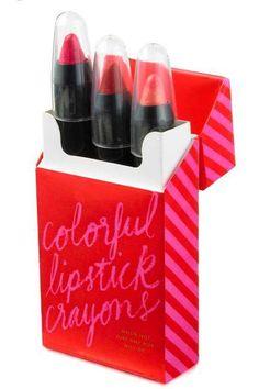 Kate Spade glamorous red lipstick #KateSpade #Lipstick #Christmas