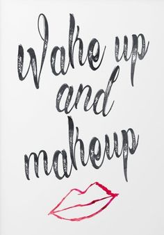 Bathroom art print - wake up and make up - quotes for bathroom - washroom art…