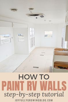 How to paint RV wall