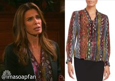 I'm a Soap Fan: Hope Brady's Multicolored Snake Print Blouse - Days of Our Lives, Kristian Alfonso, #Days #DOOL