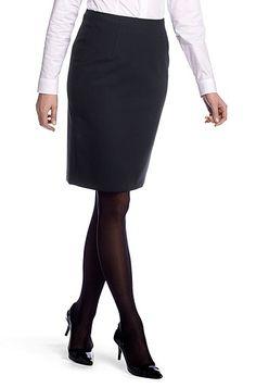 Shift skirt in blended new wool 'Vilina1', Dark Blue