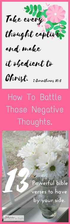 Do you struggle with negative thoughts? If you are overwhelmed by the negative thoughts rattling around in your head don't worry. There is hope. God has provided us with a way to help quiet the noise in our noggins. Read to find out more about my favorite bible verses to have handy. Plus printable scripture cards!