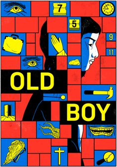 Christina Daura - Fake poster of Old Boy movie as if the main character was a woman.