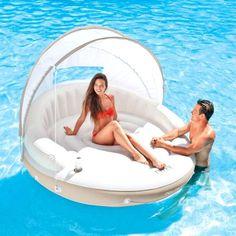 Intex Pool Sea Air Mat Mattress, Water Exclusive Sleeping Canopy Floating pad #Intex