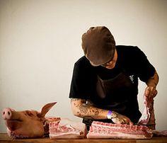 Lindy & Grundy at 2010 Artisanal LA Fall Show - Fine Art of Butchering {demo)