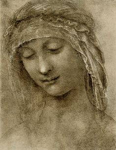 Leonardo - Study head of Saint Anne | by petrus.agricola