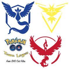 Pokemon GO Team Logo SVG Cut Files - FREE