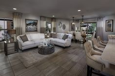 """Fire Rock Ranch """"The Traditions"""", a KB Home Community in Chandler, AZ (Phoenix) GREAT COLOR SCHEME Great Room Layout, Living Room Furniture Layout, Living Rooms, Fire Rocks, Rock Ranch, Kb Homes, Phoenix Homes, New Homes For Sale, Home Staging"""