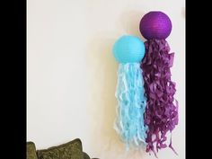 This tutorial is perfect for mermaid party! Colorful paper lanterns are great party decorations