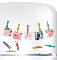 Easily display photos of your kids and their artwork with Wallies' Hang It Up Clothespins peel-and-stick vinyl decals. 22 colorful clothespin vinyl decals (2 of each color) in each package.